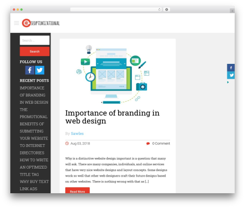 Magazie Minimal WordPress theme download - seoptimizational.com