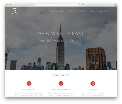 Pitch WordPress theme - ratnercreative.com