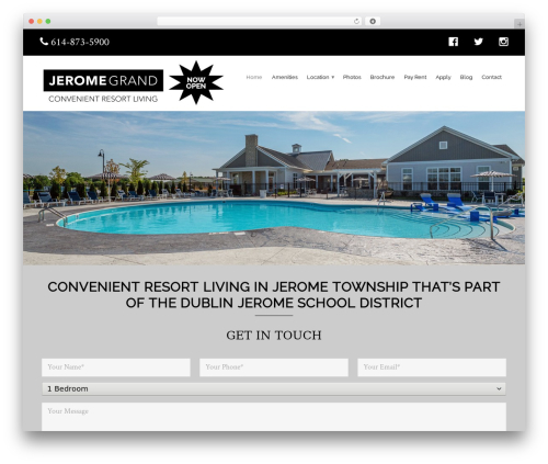 Profiles WordPress theme - jeromegrand.com