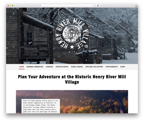 WordPress theme Type Plus - henryrivermillvillage.com