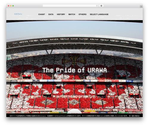 AGENT template WordPress - urawazine.net