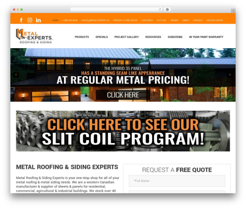Avada WordPress theme - metalexperts.ca