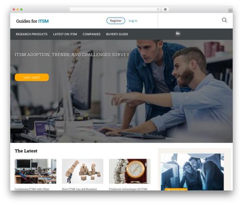 Best WordPress template Guides for CRM Wordpress Theme - guidesforitsm.com