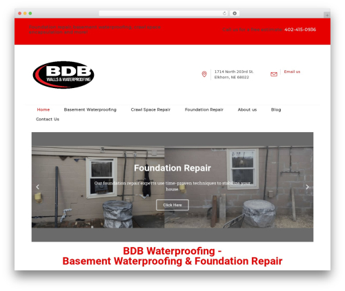 Best WordPress template Tanj - bdbwaterproofing.com
