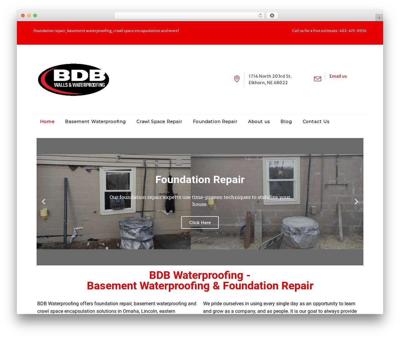 Best WordPress template Tanj - bdbwaterproofing.com