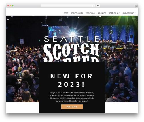 Best WordPress theme Vertoh - scotchbeerfest.com