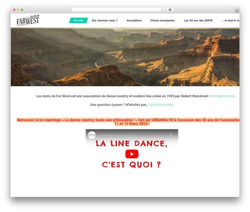 Dance Studio best WordPress template - lesamisdufarwest.com