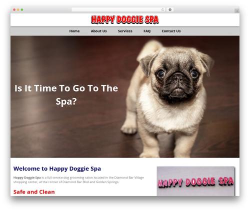 GeneratePress template WordPress - happydoggiespa.com
