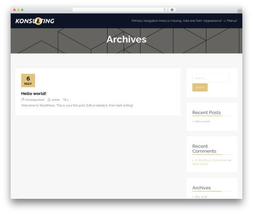 Konsulting WordPress theme - patriaco.net