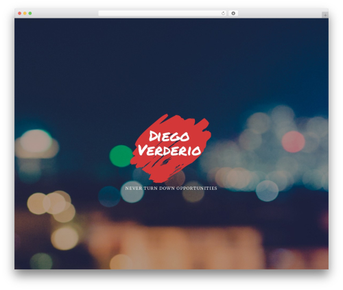 Ovation WordPress theme - diegoverderio.com