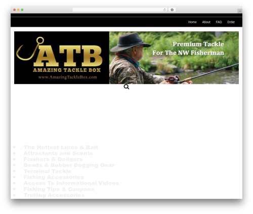 PBTheme v3.4.9 WordPress theme - amazingtacklebox.com