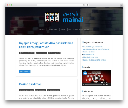 Personalio free WP theme - verslomainai.lt
