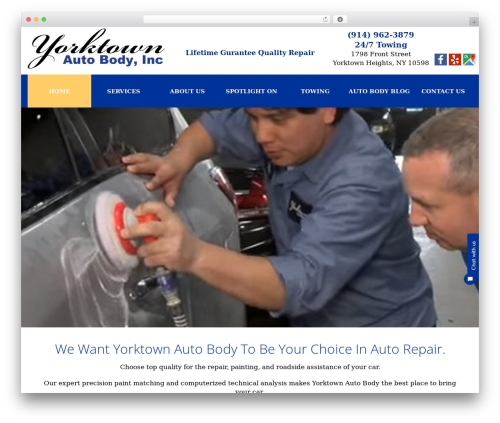 WordPress theme cherry - yorktownautobody.com