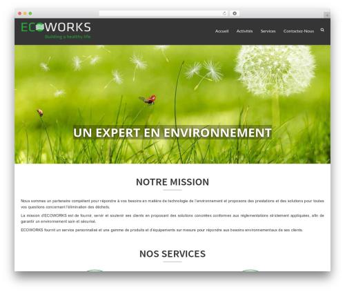 WP theme EcoWaste Wordpress Theme - ecoworks-dz.com