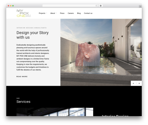 Architecturer template WordPress - mypickone.com