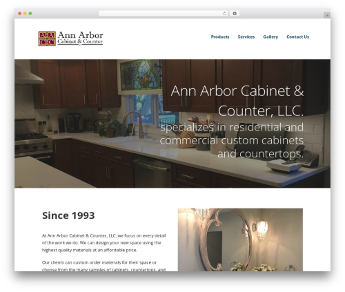 Ascension top WordPress theme - annarborcabinets.com