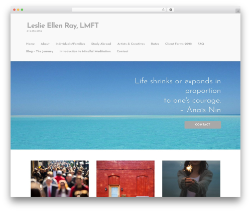 Ascension WordPress page template - leslieellenray.com