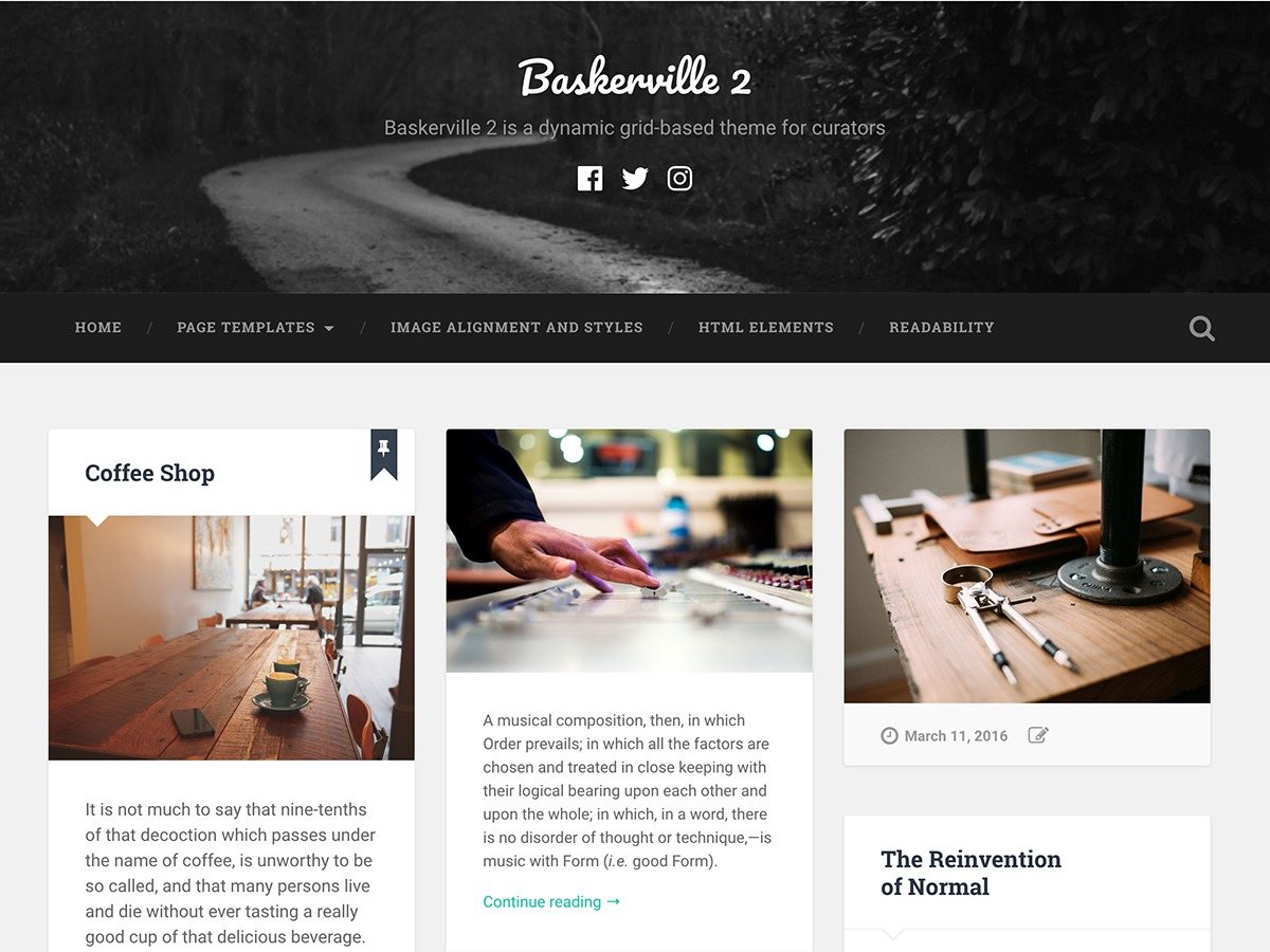 Baskerville 2 WordPress video template