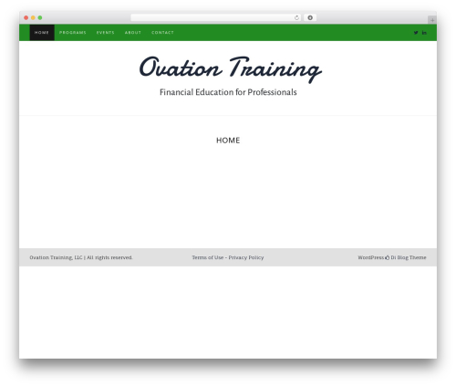 Best WordPress template Di Blog - ovationtraining.com