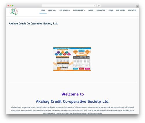 Best WordPress template Sciencex Lite - akshaycredit.com