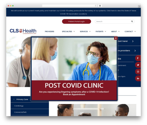 Big Splash Web Design medical WordPress theme - clearlake-specialties.com