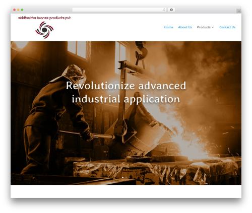 Divi best WordPress theme - siddharthabronze.com