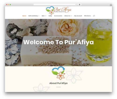 Divi best WordPress theme - purafiya.com