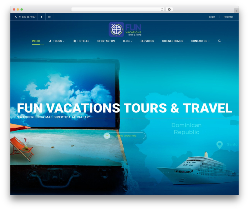 Exploore theme WordPress free - funvacationstours.com