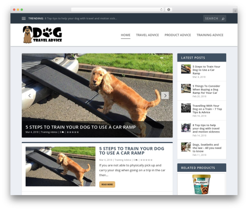 Extra WordPress travel theme - dogtraveladvice.com
