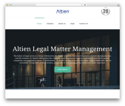 Fenimore WordPress theme - altien.com