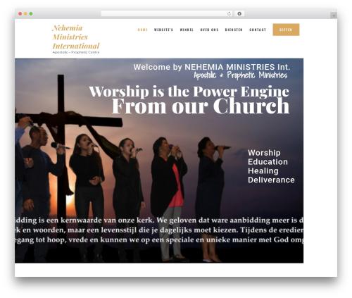 Holy Church WordPress page template - nehemiaministries.com