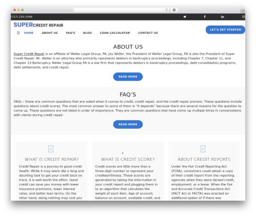 supercreditrepair.com WordPress theme - supercreditrepair.com
