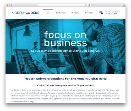 Template WordPress Nanosoft - moderncoders.com