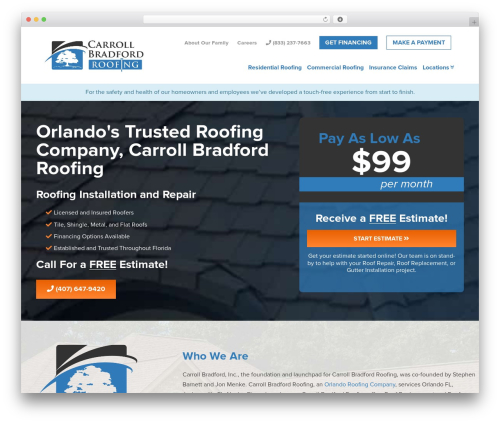 BC WordPress template for business - cbroofing.com