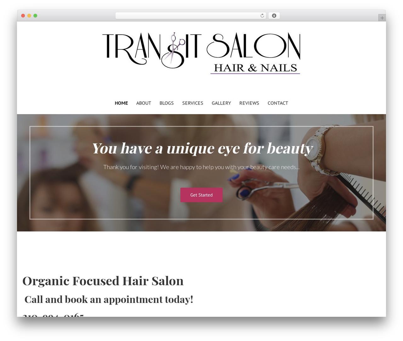 Best WordPress theme Primer - transitsalonandnails.com