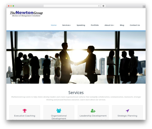 BusiProf Pro WordPress page template - thenewtongroup.com