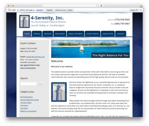Customized theme WordPress - 4-serenity.com