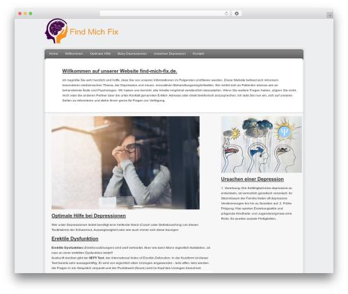 Delicious Child Theme WordPress page template - find-mich-fix.de