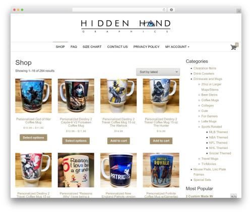 Envo Store WP template - hiddenhandgraphics.com