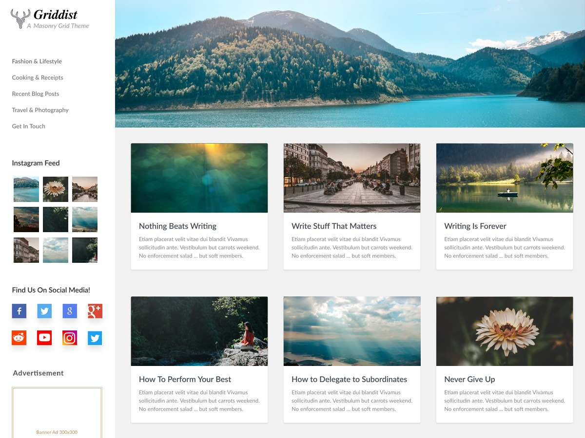 Griddist WordPress travel theme