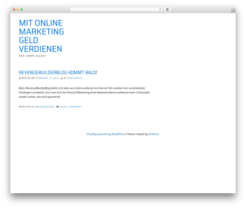ioBoot top WordPress theme - revenuebuilderblog.com