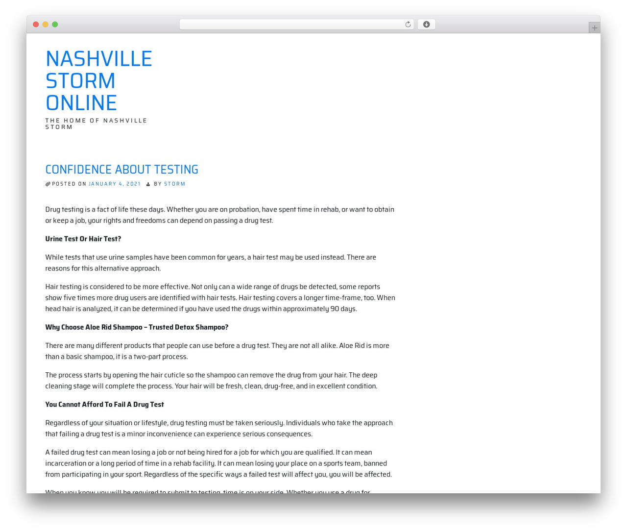 ioBoot WordPress theme - nashvillestormonline.com