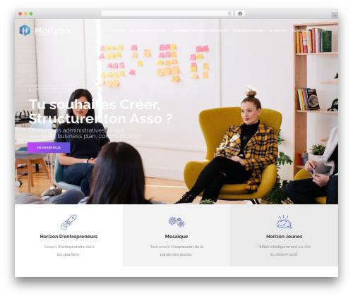 Nelva WordPress theme design - asso-horizon.com