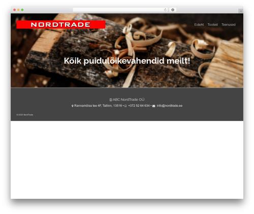 Pinnacle WordPress theme - nordtrade.ee