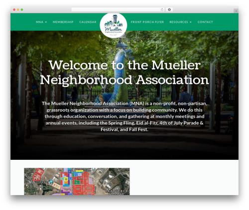 Pro template WordPress - muellerneighborhood.org
