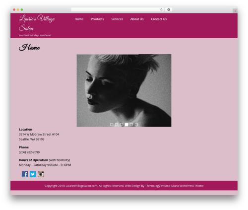 Sauna Lite free WP theme - lauriesvillagesalon.com