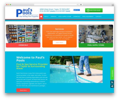 SSP Starter WP theme - paulspoolservice.com