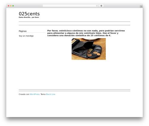 Theme WordPress Black Line - 025cents.com