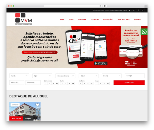 Vista Floripa theme WordPress - mvmimoveis.com.br