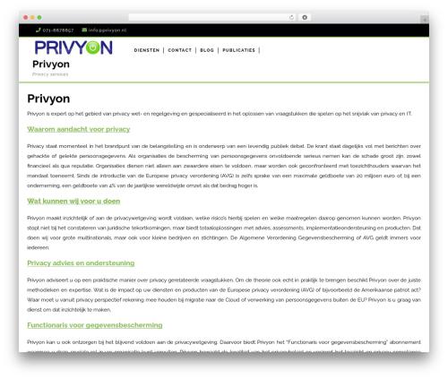 VW Corporate Business business WordPress theme - privyon.nl